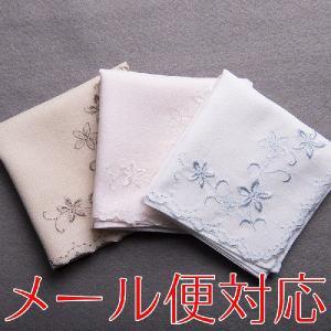 ブライダルハンカチ コーナー刺繍フルール 花嫁用 結婚式 ウェディングドレス 婦人用フォーマル|auro