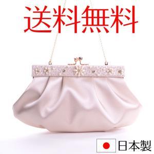 日本製高級サテンパーティーバッグ 刺繍 箱付き 結婚式 2次会 披露宴|auro