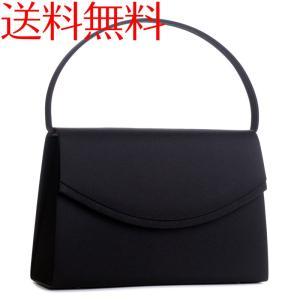 日本製ブラックフォーマルバッグ ラウンドかぶせ裏地ダイヤ 黒 レディース 結婚式 冠婚葬祭 弔事 入学式 卒業式|auro