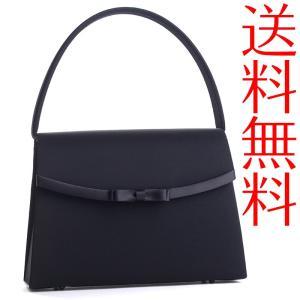 ブラックフォーマルバッグ 重ねリボン黒 冠婚葬祭 弔事 入学式 入園式 卒業式 卒園式|auro