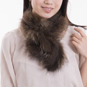 チャイナラクーンファーマフラー 毛皮ストール|auro