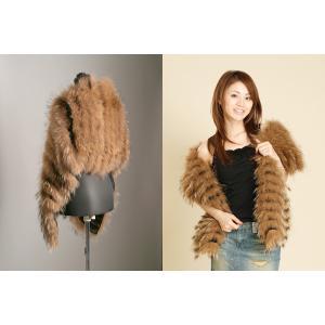 チャイナラクーンレイヤードストール 毛皮、ファーのALFURNO|auro