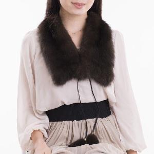 ロシアンセーブルテイルファーマフラー 毛皮マフラー|auro