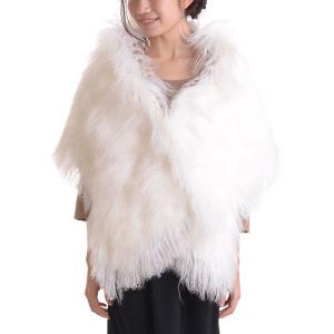 シャドーフォックスチベットラムファーショール 毛皮ショール|auro