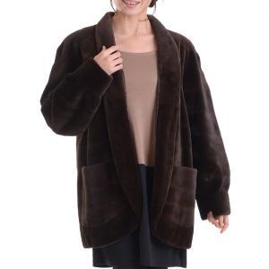 日本製シェアードミンクコート ブラウン|auro