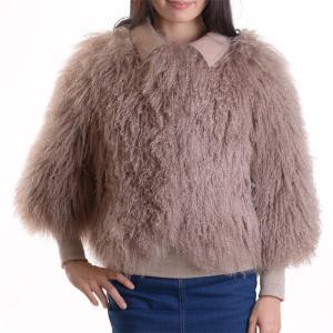 チベットラムファージャケット 毛皮コート アンバーピーチ|auro