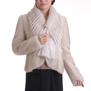 日本製バイオレットミンクジャケットコート y0001ナチュラル リバーシブル|auro