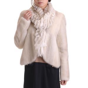 日本製バイオレットミンクジャケットコート y0002ナチュラル|auro