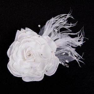 薔薇ヘッドドレス コサージュ ヘアアクセ ウェディング ブライダル 花嫁|auro