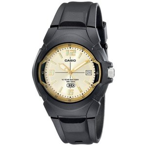 腕時計 カシオ メンズ Casio Men's 10-Year Battery Life 100m Black Resin Watch MW600F-9AV|aurora-and-oasis