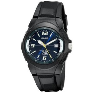 腕時計 カシオ メンズ Casio Men's Analog Date 10-Year Battery Life Black Resin Watch MW600F-2AV|aurora-and-oasis