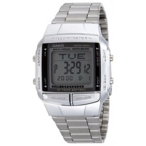 腕時計 カシオ メンズ Casio Men's Illuminator Digital Databank Stainless Steel Watch DB360-1A|aurora-and-oasis