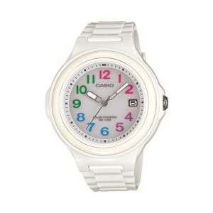 腕時計 カシオ レディース Casio Women's Solar Analog White Plastic Resin Watch LXS700H-7B2|aurora-and-oasis