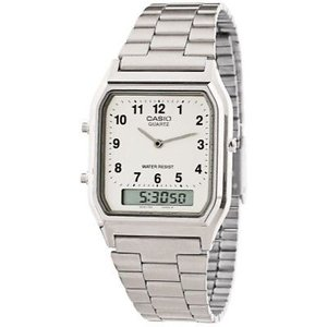 腕時計 カシオ メンズ Casio Men's Classic Stainless Steel Watch AQ230A-7B|aurora-and-oasis