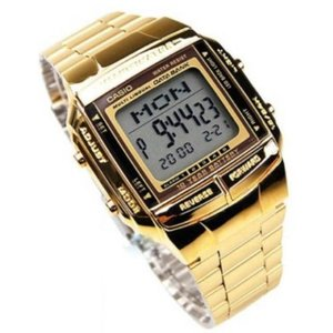 腕時計 カシオ メンズ Casio Men's Gold tone Data Bank Watch DB360G-9A|aurora-and-oasis