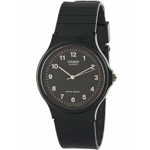 腕時計 カシオ メンズ Casio Men's Analog Quartz Water Resistant Black Resin Watch MQ24-1B|aurora-and-oasis