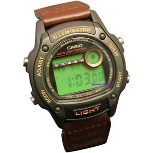 腕時計 カシオ メンズ Casio Men's Sport 50m Black Resin Brown Nylon Watch W94HF-3AV|aurora-and-oasis