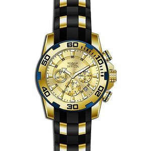 腕時計 インヴィクタ インビクタ メンズ Invicta Men's Pro Diver Quartz Chronograph Gold Dial Watch 22345|aurora-and-oasis