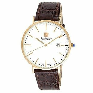腕時計 シュタインハウゼン メンズ Steinhausen Men's Burgdorf Rose Gold Stainless Steel Brown Leather Watch S0522|aurora-and-oasis