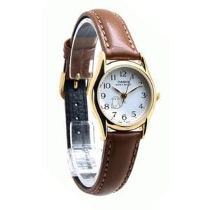 腕時計 カシオ レディース Casio Women's Quartz Gold Tone Stainless Steel Brown Leather Watch LTP1094Q-7B8 aurora-and-oasis