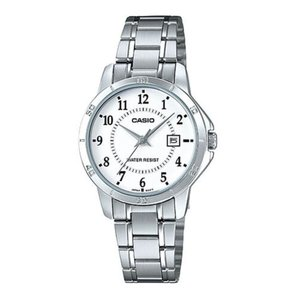 腕時計 カシオ レディース Casio Women's Mineral Crystal White Dial Stainless Steel Watch LTP-V004D-7B aurora-and-oasis