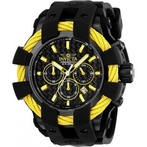 腕時計 インヴィクタ インビクタ メンズ Invicta Men's Bolt Chrono Quartz 200m Black Stainless Steel/Silicone Watch 23871|aurora-and-oasis
