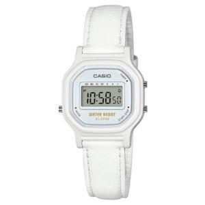 腕時計 カシオ レディース Casio Women's Digital Quartz White Resin / Synthetic Leather Watch LA11WL-7A aurora-and-oasis