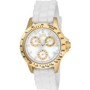 腕時計 インヴィクタ インビクタ レディース Invicta Women's Speedway Chrono 100m Gold Tone Case White Silicone Watch 21985 aurora-and-oasis