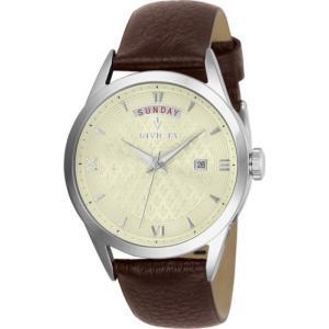 腕時計 インヴィクタ インビクタ レディース Invicta Women's Vintage Quartz Stainless Steel Brown Leather Watch 25711 aurora-and-oasis
