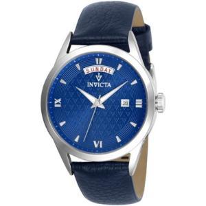 腕時計 インヴィクタ インビクタ レディース Invicta Women's Vintage Quartz Stainless Steel Blue Leather Watch 25712 aurora-and-oasis