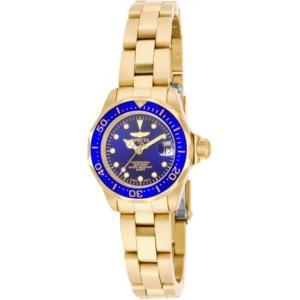 腕時計 インヴィクタ インビクタ レディース Invicta Women's Pro Diver Quartz 200m  Gold Plated Stainless Steel Watch 17036 aurora-and-oasis