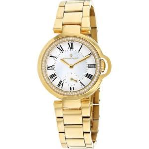 腕時計 クリスチャンヴァンサント レディース Christian Van Sant Women's Cybele Chrono Gold Tone Stainless Steel Watch CV0231|aurora-and-oasis