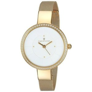 腕時計 クリスチャンヴァンサント レディース Christian Van Sant Women's Reign Gold Tone Stainless Steel Mesh Watch CV0222|aurora-and-oasis