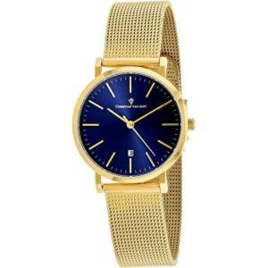 腕時計 クリスチャンヴァンサント レディース Christian Van Sant Women's Paradigm Gold Tone Stainless Steel Mesh Watch CV4224|aurora-and-oasis