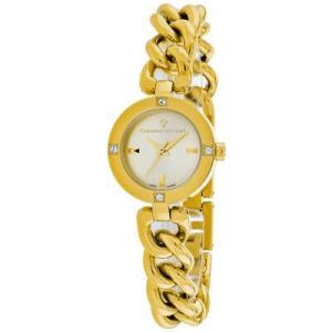 腕時計 クリスチャンヴァンサント レディース Christian Van Sant Women's Sultry Quartz Gold Tone Stainless Steel Watch CV0214|aurora-and-oasis