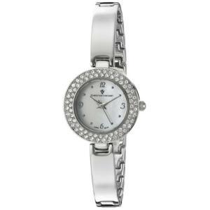 腕時計 クリスチャンヴァンサント レディース Christian Van Sant Women Palisades Quartz Crystals Stainless Steel Watch CV8610|aurora-and-oasis