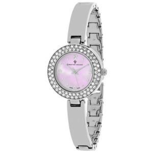 腕時計 クリスチャンヴァンサント レディース Christian Van Sant Women Palisades Quartz Crystals Stainless Steel Watch CV8611|aurora-and-oasis