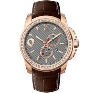腕時計 ジバゴ メンズ Jivago Men's Gliese Chrono 100m Stainless Steel/Brown Leather Watch JV1532 aurora-and-oasis