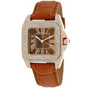 腕時計 クリスチャンヴァンサント レディース Christian Van Sant Women's Radieuse Rose Gold Brass/Brown Leather Watch CV4423|aurora-and-oasis