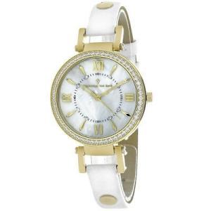 腕時計 クリスチャンヴァンサント レディース Christian Van Sant Women's Petite Stainless Steel/White Leather Watch CV8132|aurora-and-oasis