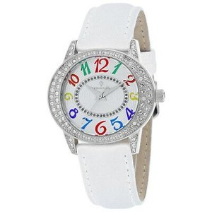 腕時計 クリスチャンヴァンサント レディース Christian Van Sant Women's Sevilla Stainless Steel/White Leather Watch CV8410|aurora-and-oasis