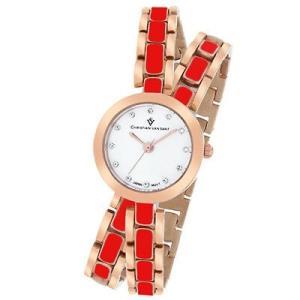 腕時計 クリスチャンヴァンサント レディース Christian Van Sant Women's Spiral Quartz Two Tone Stainless Steel Watch CV5614 aurora-and-oasis