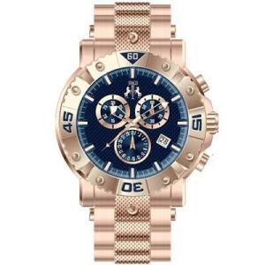 腕時計 ジバゴ メンズ Jivago Men's Titan Chrono 100m Rose Gold Tone Stainless Steel Watch JV9126 aurora-and-oasis