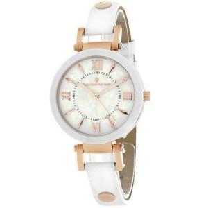 腕時計 クリスチャンヴァンサント レディース Christian Van Sant Women's Petite Stainless Steel/White Leather Watch CV8163 aurora-and-oasis