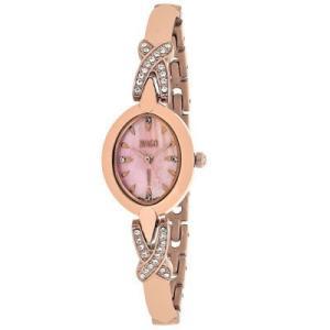 腕時計 ジバゴ レディース Jivago Women's Via Quartz Crystals Rose Gold Tone Stainless Steel Watch JV3615 aurora-and-oasis
