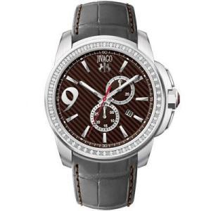 腕時計 ジバゴ メンズ Jivago Men's Gliese Chrono 100m Stainless Steel/Grey Leather Watch JV1536 aurora-and-oasis