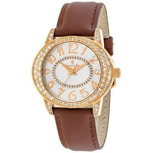 腕時計 クリスチャンヴァンサント レディース Christian Van Sant Women's Sevilla Stainless Steel/Brown Leather Watch CV8413 aurora-and-oasis