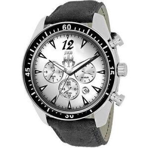腕時計 ジバゴ メンズ Jivago Men's Timeless Chrono 100m Stainless Steel/Black Leather Watch JV4510 aurora-and-oasis