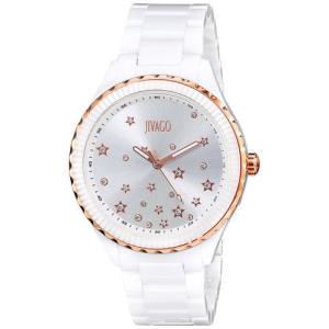 腕時計 ジバゴ レディース Jivago Women's Sky Quartz White Ceramic Watch JV2412 aurora-and-oasis