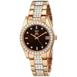 腕時計 ジバゴ レディース Jivago Women's Magnifique Quartz Rose Gold Tone Stainless Steel Watch JV6413 aurora-and-oasis